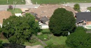Home swallowed by massive sinkhole in FL