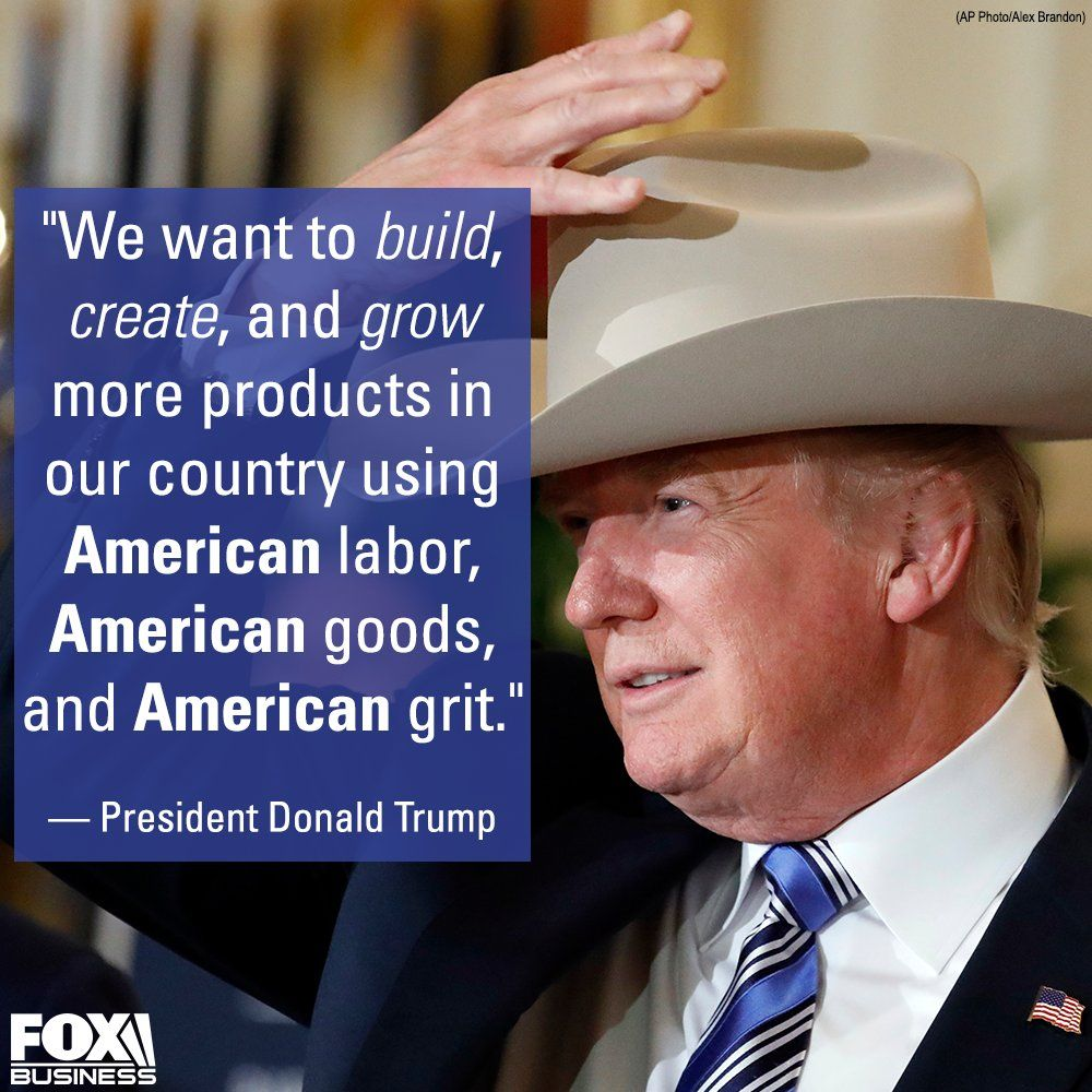 President Trump in a Stetson hat
