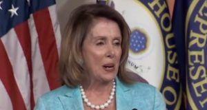 Nancy Pelosi makes insane hiss sound and maniacal giggle