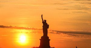 Statue-of-Liberty-Sunset