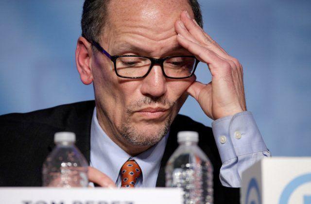 Tom Perez distraught over DNC $3.3 million debt.