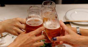 Toasting Glasses of Drinks