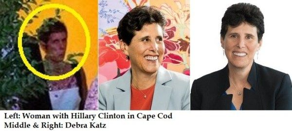 Debra Katz is mystery woman with Hillary Clinton in Cape Cod August 2016
