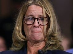 Christine Blasey Ford testifying