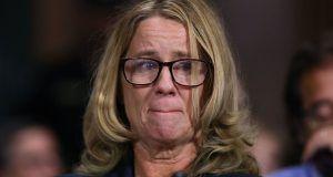 Christine Blasey Ford testifying