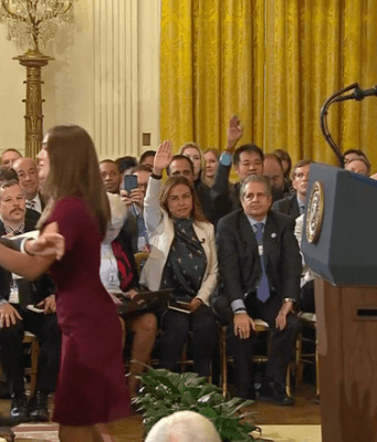 Jim Acosta assaulting a female intern at the White House.