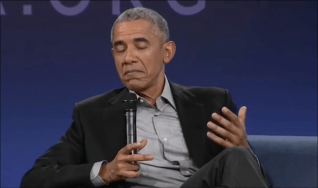 Barack Obama calls Senate colleagues a disgusting vulgar name.