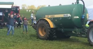Farmer Sprays Poop on Protesters