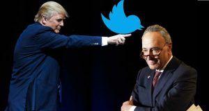 Trump Schumer Twitter war