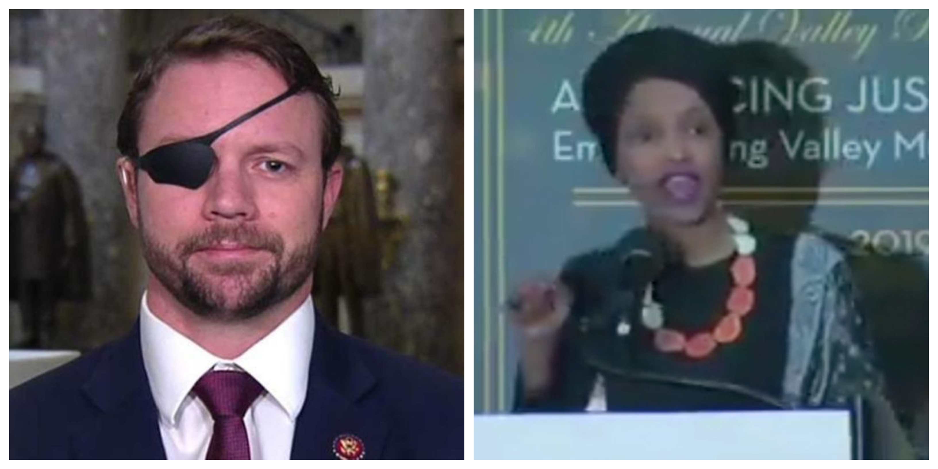 former navy seal dan crenshaw destroys ilhan omar after