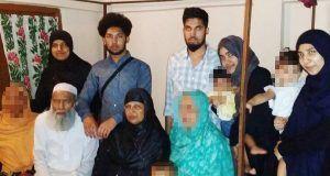 (Back L-R) Rajia Khanom, Mohammed Toufique Hussain, Mohammed Saleh Hussain, Roshanara Begum, Sheida Khanam (Front L-R) Muhammed Abdul Mannan and Minera Khatun