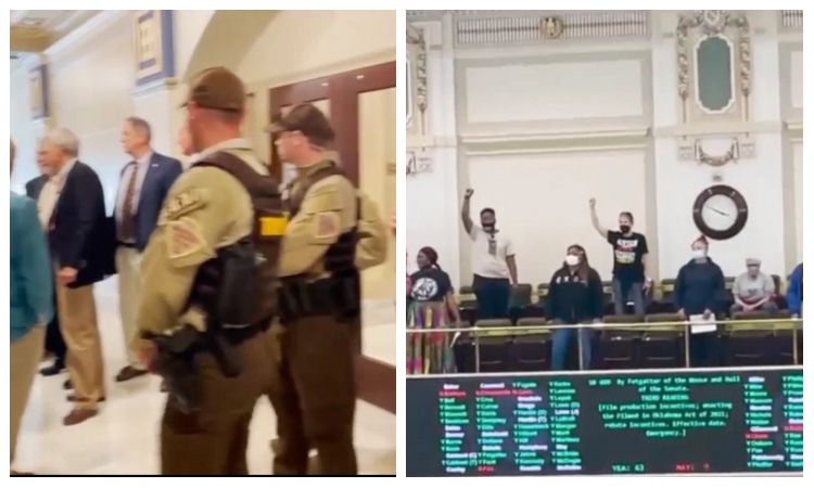 Videos: BLM Terrorists Stormed The Oklahoma Capitol Building During House Session Over Anti-Riot Bill - No MSM Outrage